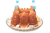 Sand castle cake — Stock Photo