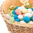 Easter basket isolated on white — Stock Photo #9615020