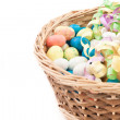Easter basket isolated on white — Stock Photo #9647513
