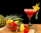 Tropical fruit cocktail — Stock Photo