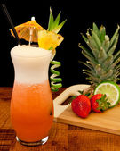 Strawberry pina colada — Stock Photo