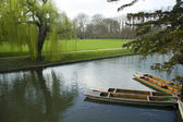 Punting at Cambridge University — Stock Photo