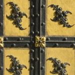 Decorative Bavarian door — Stock Photo