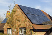 Domestic solar power — Stock Photo