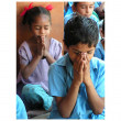 Children's prayer — Stock Photo