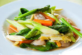 Stir-fried mix colorful vegetables and herb — Stock Photo