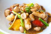 Stir-fried colorful vegetables, mushroom and herb — Stockfoto