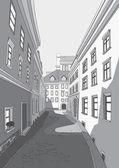 Street of city — Stock Vector