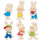 Rabbits — Stock Vector #10212716
