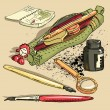 Vector de stock : Pencil-case