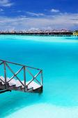 Steps into amazing blue lagoon — Stock Photo