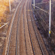 Stock Photo: Electric railway image seen from above