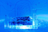 A hotel room in ice hotel — Stock Photo