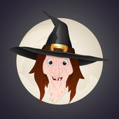 Witch Face — Stock Vector