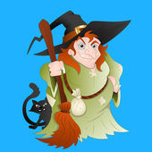 Witch Vector — Vector de stock