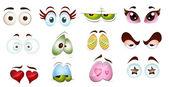 Cartoon Character Eyes — Stock Vector