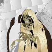 Horror Mummy — Stock Vector