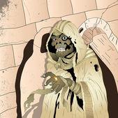 Spooky Mummy — Stock Vector