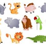 Cute Animals — Stock Vector