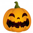 Evil Halloween Pumpkin - Stock Vector