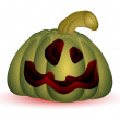 Illustration of Evil Halloween Pumpkin - Stock Vector