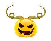 Devil Halloween Pumpkin — Stock Vector