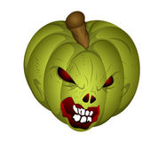 Scary Halloween Pumpkin Vector — ストックベクタ