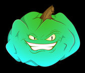 Smiling Pumpkin — Stock Vector