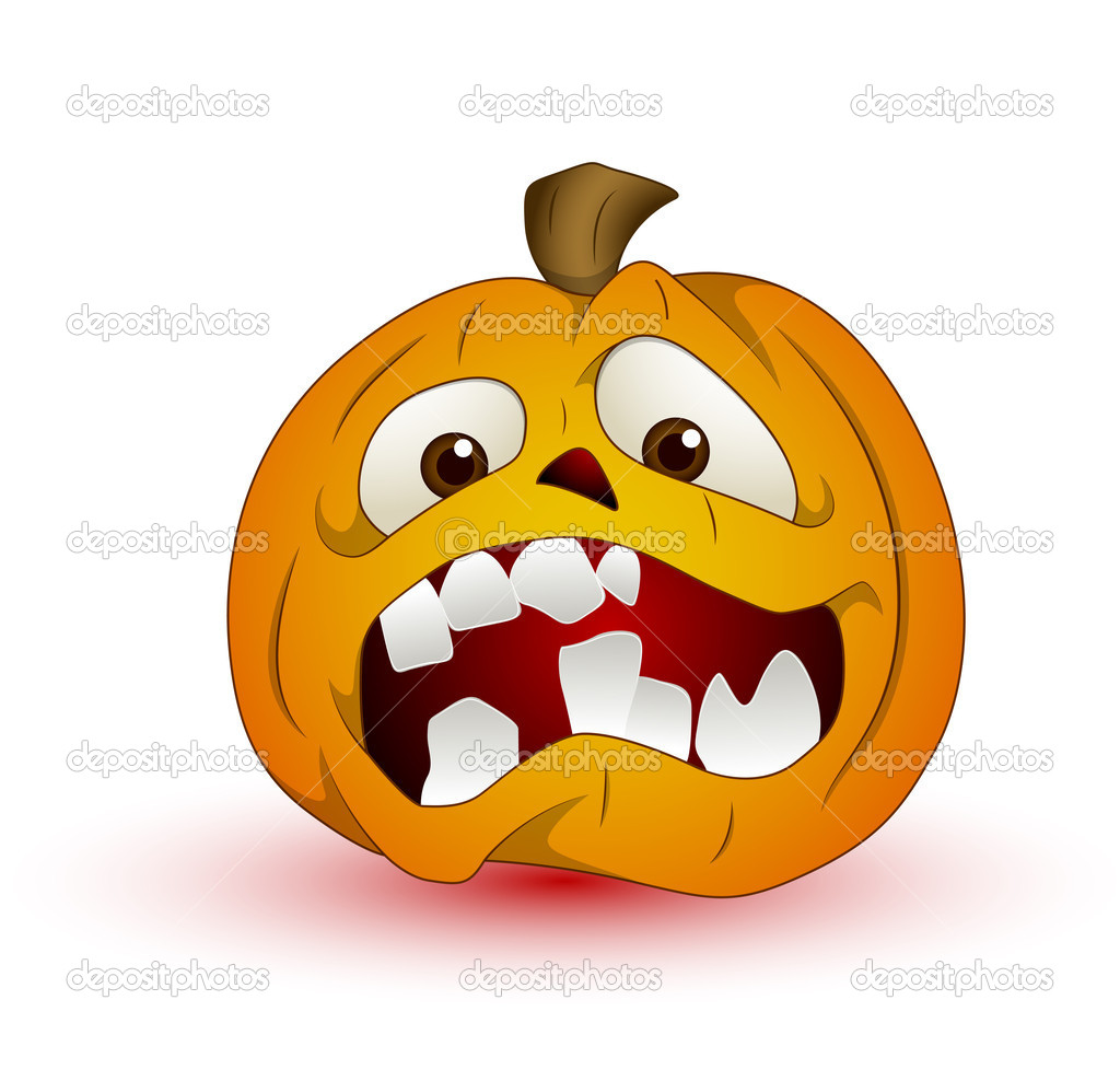 Conceptual Design Art of Cartoon Halloween Pumpkin Vector Illustration — Stock Vector #10354303