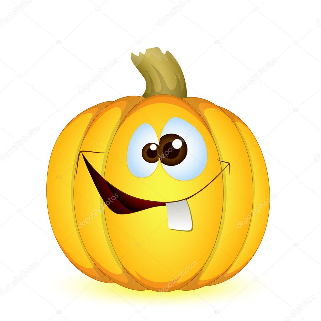Citrouille d 39 halloween dr le image vectorielle baavli - Image halloween drole ...