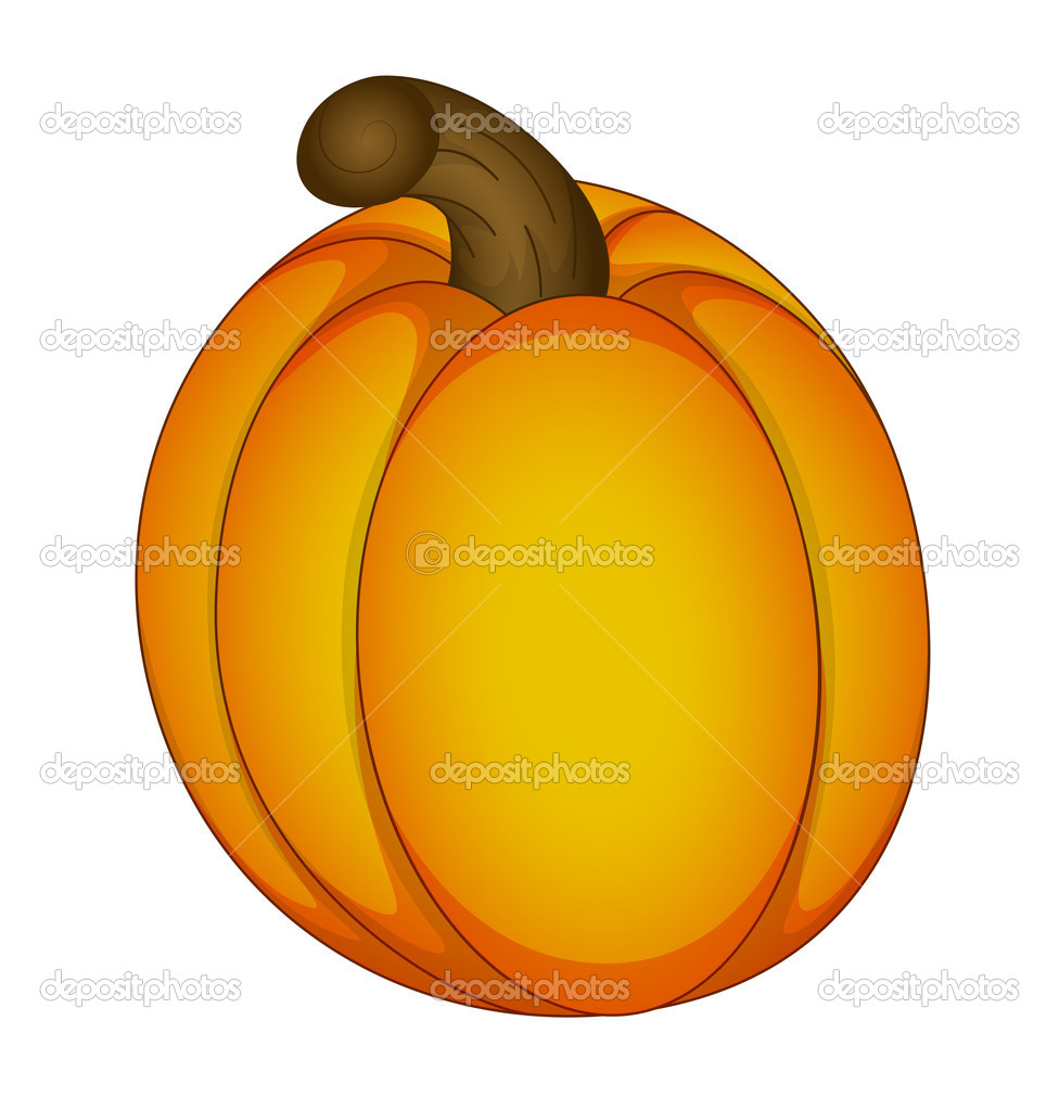 Creative Design Art of Vector Illustration of Fruit Pumpkin — Stock Vector #10354462