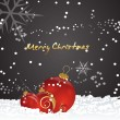 Christmas Background with Baubles — Vector de stock #7983800