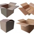 Set of Cardboard Boxes — Stock Vector