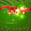 Royalty-Free Stock Vector Image: Bright Green Christmas Background