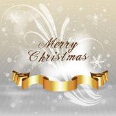 Golden Banner Christmas Background — Stockvector