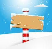 North Pole in Winter Snow — Stock Vector