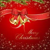 圣诞铃铛挂带蝴蝶结 — 图库矢量图片
