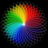 Rainbow Flower with White Outline — Stockvektor