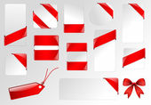 Угловые ленты Теги и баннеры — Cтоковый вектор