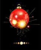 Festive Christmas Ball — Stock Vector