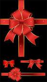 Set of Gift Ribbon Bow — Stock Vector