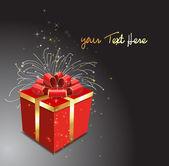 クリスマスのギフト ボックスのベクトル イラスト — ストックベクタ