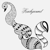 Hand Drawn Henna Art — Stock Vector