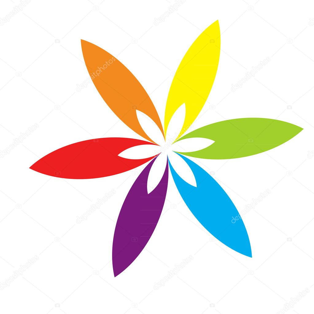 Rainbow flower petals stock vector baavli 7983969 for Rainbow petals
