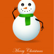 Stock Vector: SnowmChristmas Card