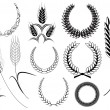 Royalty-Free Stock Vector Image: Vector Laurel Wreath Elements