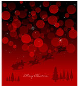 Red Light Christmas Background — Stock Vector