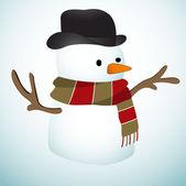 Cute Snowman — Stock Vector