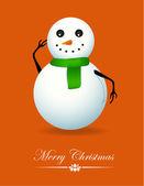 Snowman Christmas Card — Stock Vector
