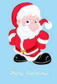 Cute Santa Christmas Card — Stock Vector